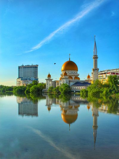 The reflection. Malaysia View EyeEm Selects Blue Sky Landscape Klang EyeEm Best Shots Politics And Government City Water Dome Cityscape Business Finance And Industry Reflection Religion Sky Architecture Urban Skyline Calm
