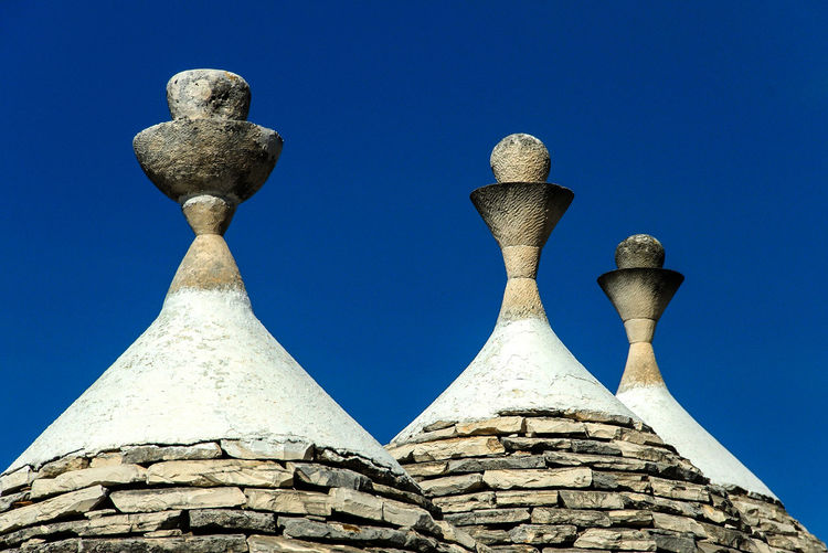 Trulli in the blue Alberobello Nikon Puglia Ancient Ancient Civilization Architectural Column Architecture Blue Built Structure Clear Sky Close-up Day History Italy Low Angle View No People Outdoors Pouilles Sculpture Sky Trulli Trulli Puglia Trulli Houses Adventures In The City The Architect - 2018 EyeEm Awards