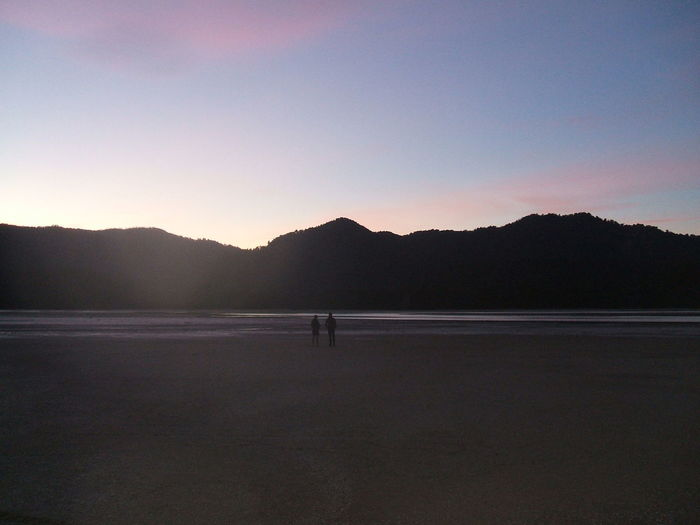 Abel Tasman trail Beach Beauty In Nature Day Leisure Activity Mountain Nature One Man Only One Person Only Men Outdoors People Real People Scenics Silhouette Sky Sunset