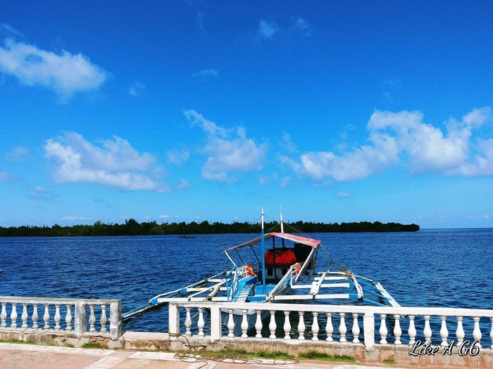 Sky Blue Beach Sea Water Cloud - Sky Day Built Structure Nature Architecture Tree Beauty In Nature Ocean View Island Boat Trip Lgg6 Cellphone Photography Vacation Wheninleyte Phillipines
