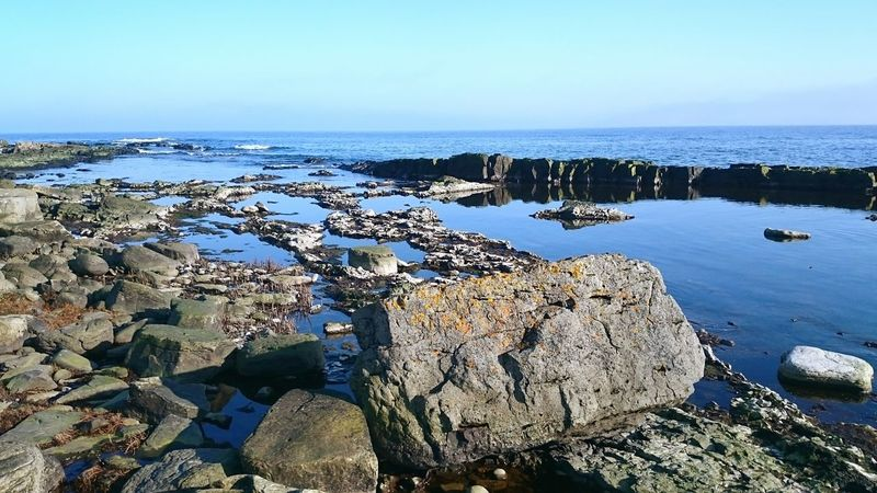 Sweden Brantevik Clear Water Sea And Sky Stones OpenEdit