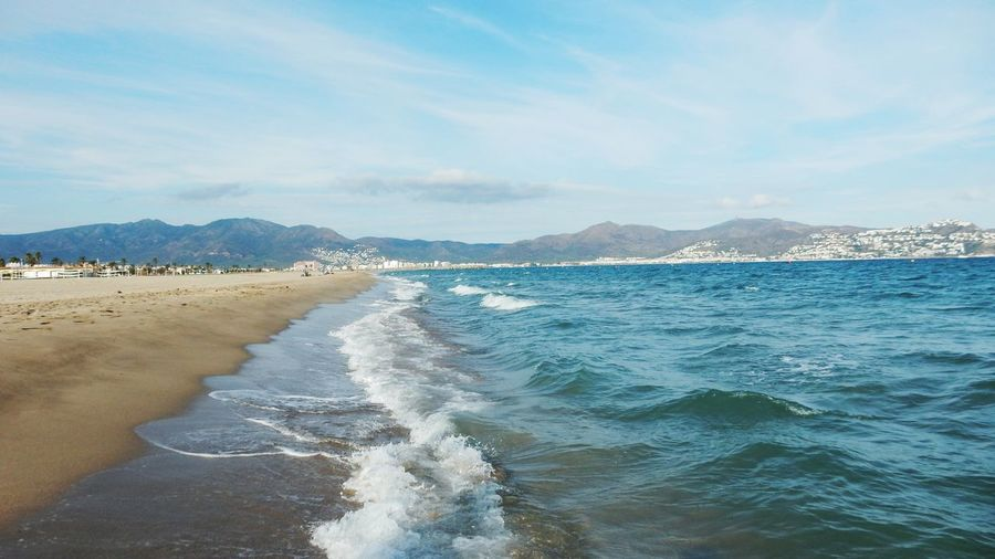 Sea Beach Sky Water Nature Beauty In Nature Scenics Mountain Sand Outdoors Wave Coastline Horizon Over Water Day No People