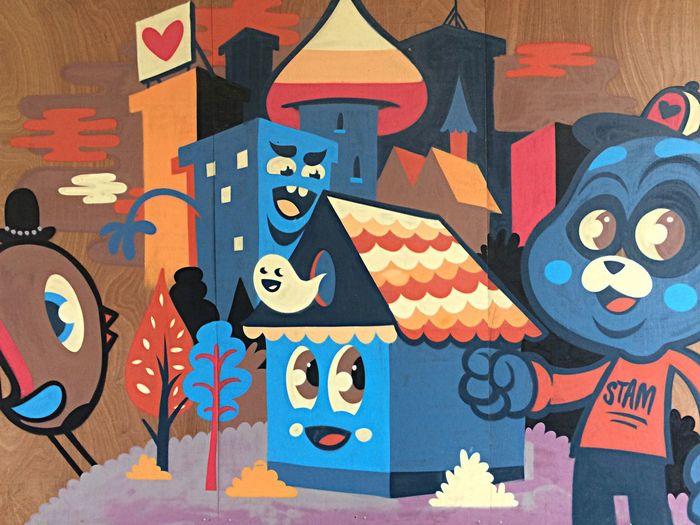 Bleu The Warrior Close-up Art Graffiti Cityscape FUNNY ANIMALS Cat