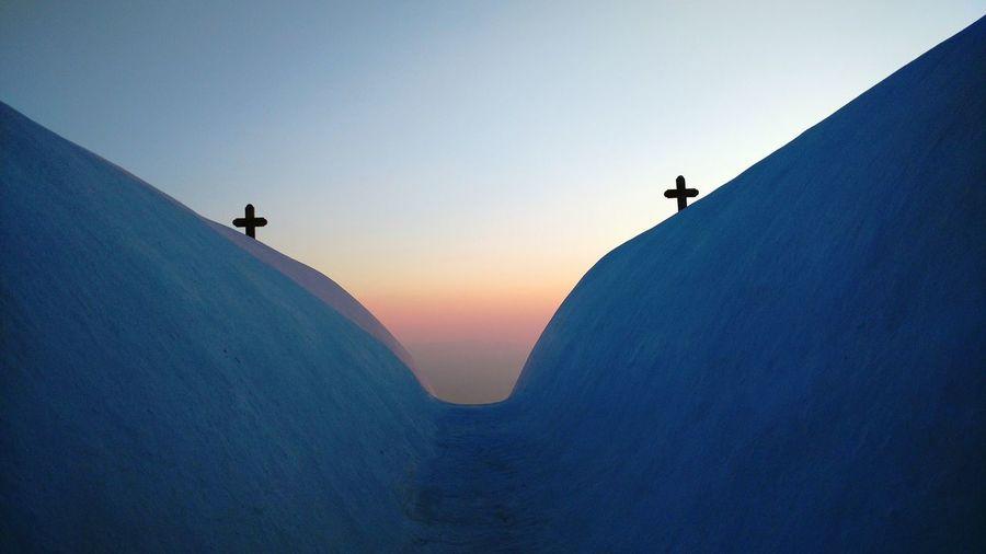 Miles Away Sunset Sikinos Greek Island Church Miles Away