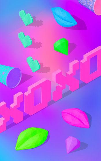 Digital composite image of multi colored paper