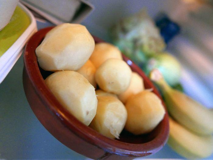 In My Fridge cooked potatoes plate Bananas