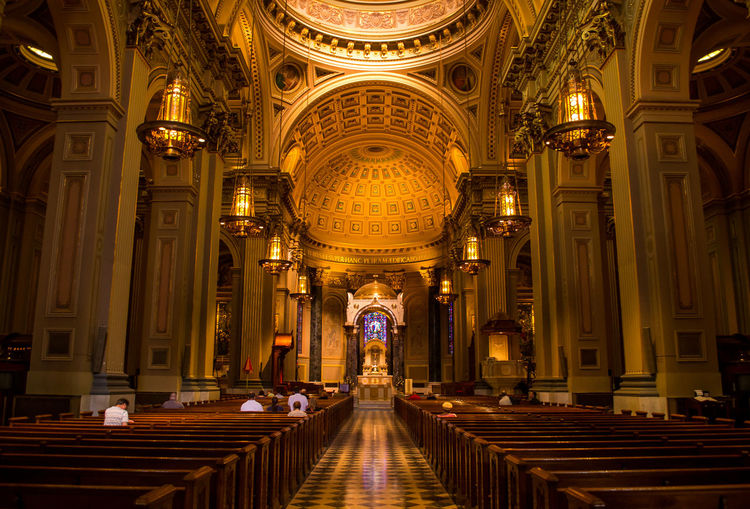 St. Patric cathedral NYC. Photographed by Cooper Billington. Colors Peace Architectural Column Art Indoors  Lifestyles Photo Photography Religion Sculpture Yellow