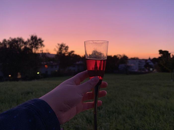 Glass of sunset