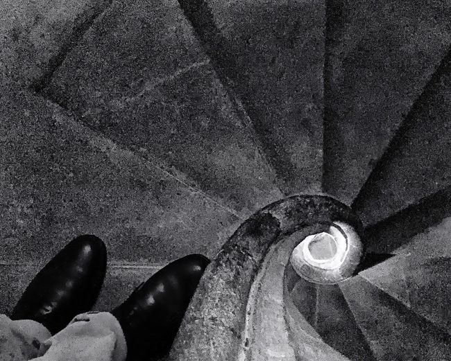 202 / 365 Architecture Santa Maria Del Pi Stairs & Shadows Architectural Feature Geometric Shape High Angle View Indoors  Patterns Stairwalkers