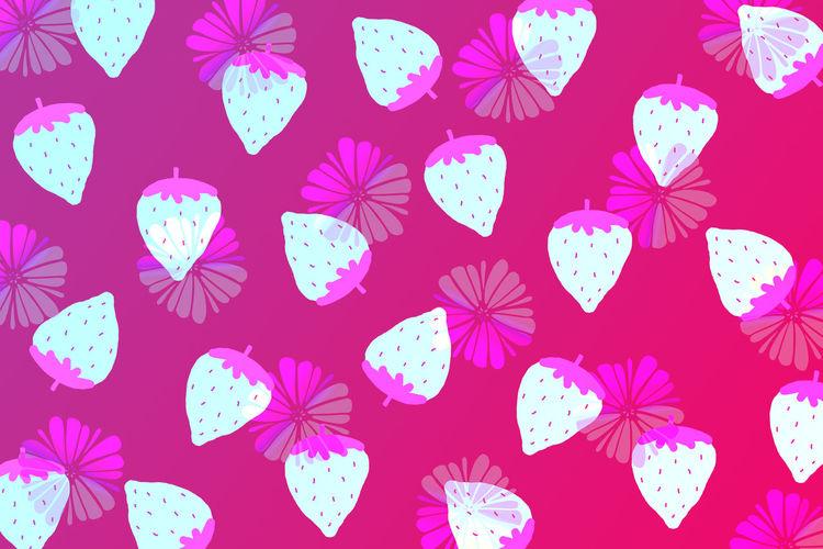 Digital composite image of pink flowers