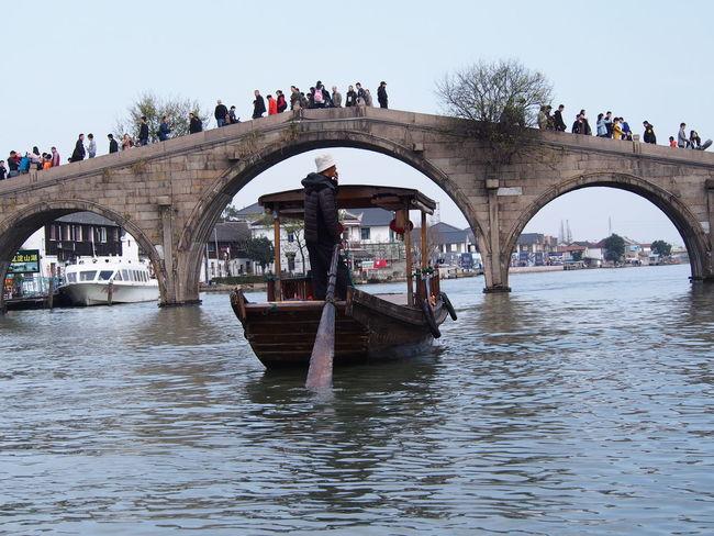Ancient Town Architecture Bridge Bridge - Man Made Structure East Venice Fangsheng Gondola - Traditional Boat Setthefishfree Shanghai Stone Bridge Tourism Transportation Travel Destinations Water Village Zhujiajiao