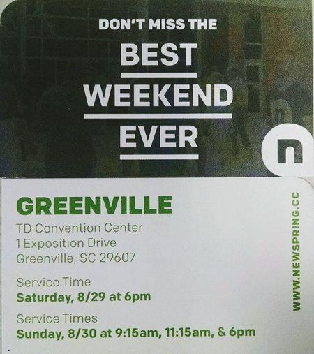 Ilovemychruch Newspring Rocks NewSpring-Greenville Don't Miss It BestWeekendEver Pastorperry Praising The Lord