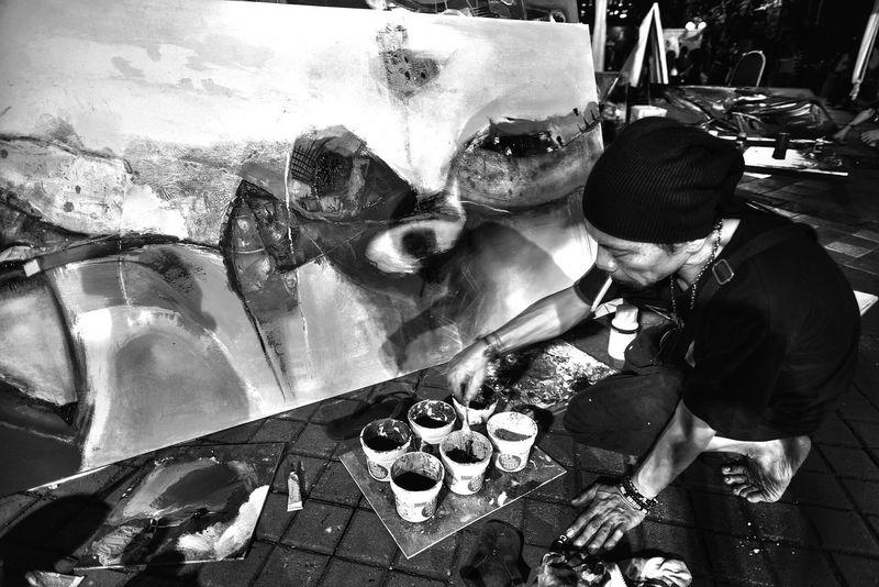 Orange Blackandwhite Street Photography Monochrome Street Art
