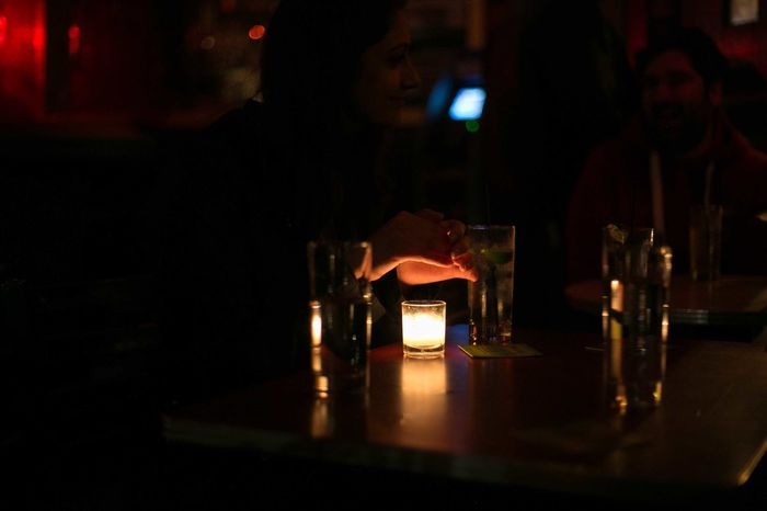Candle Low Light USA Photos Alcohol Bar Counter Califonia Close-up Drink Happy Hour Human Hand Illuminated Indoors  Night One Person Real People Table Warmth