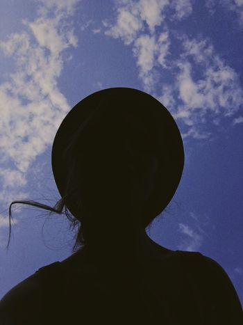 S K Y Sky Silhouette Low Angle View One Person Nature Real People The Week On EyeEm Freshness Beauty In Nature Summertime Nature Lifestyles Unrecognizable Person