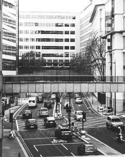Architecture Building Exterior Car Street Land Vehicle Transportation Built Structure City Road Outdoors Day City Life Road Sign Stoplight London Lifestyle Black & White Londonthroughmycam Eyem Best Shot - My World Eye4photography  EyeEmBestPics City