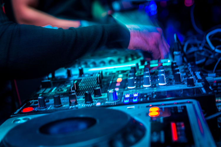 Arts Culture And Entertainment Audio Equipment Club Dj Control Disco Dancing Dj Electrical Equipment Equipment Finger Hand Human Hand Illuminated Mixing Music Night Nightclub Nightlife Noise Occupation Party - Social Event Rock Music Skill  Sound Mixer Sound Recording Equipment Technology Capture Tomorrow Humanity Meets Technology