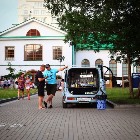 Talks Eos77D Canon Russia Yekaterinburg Architecture Mode Of Transportation Transportation Built Structure Building Exterior Tree Group Of People City Plant People Real People Car Street Day Men Women The Street Photographer - 2018 EyeEm Awards