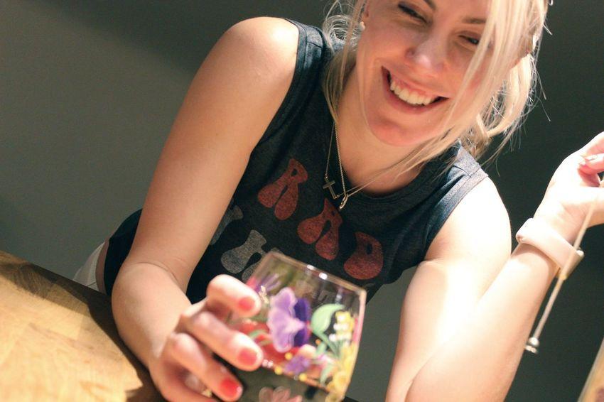 Happy Smile Blonde Girl Teeth