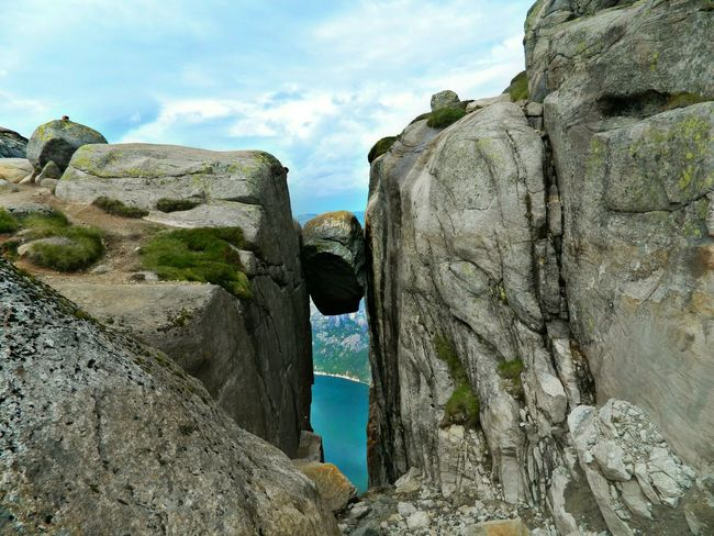 Sky Nature Kjeragbolten Kjerag Norwey Travel Mountain Kamień Gory