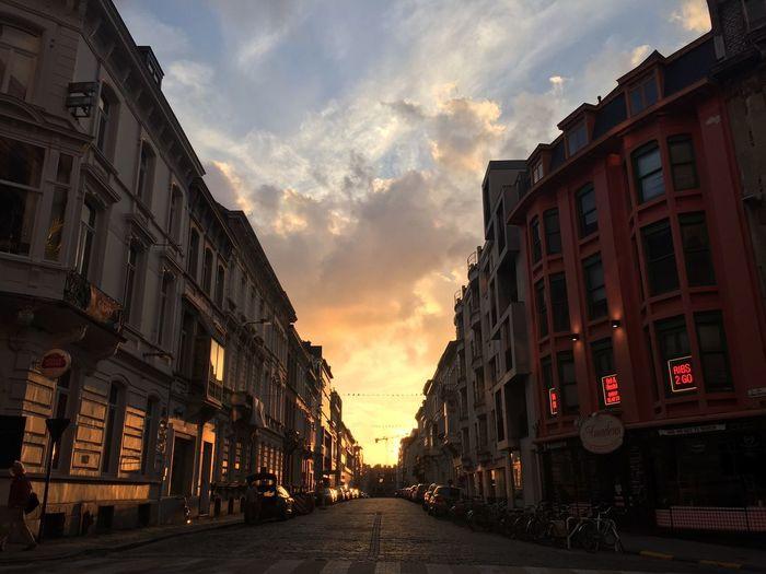 Sunset Street Street Photography