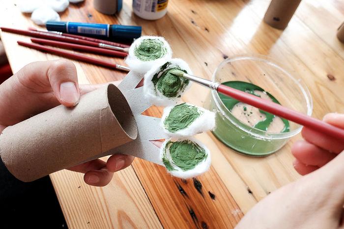 Children Colors Creativity Tree Art Artificial Bruch Child Cotton Creative Handicraft Indoors  Project EyeEmNewHere