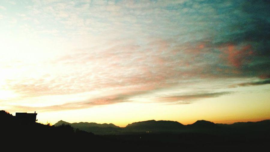 Home Montagne Lanskape Tramonto Rossodisera