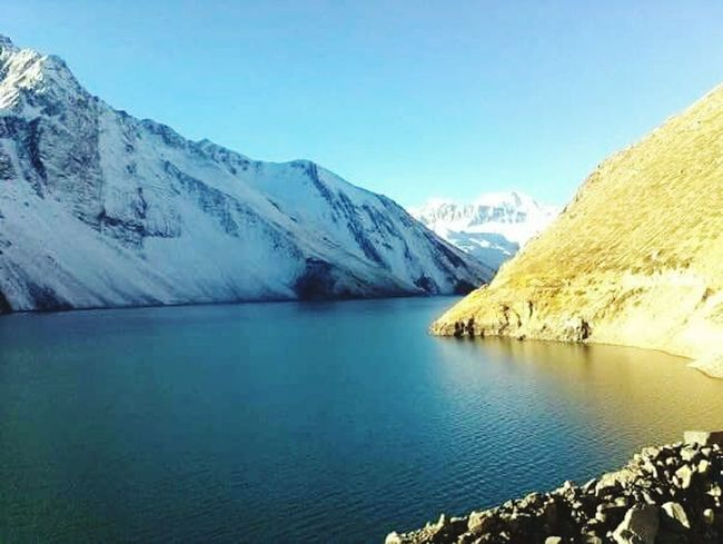 Beautiful Landscape Chile Embalse El Yeso Trekking