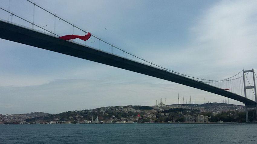 Bridge - Man Made Structure Connection Sky Transportation Architecture History Istanbul Turkey Boğaz Köprüsü Tourism Building Exterior Bosphorus Bridge Cloud - Sky Transportation Travel Destinations