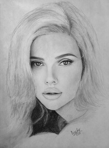 Scarlett Johansson Portrait Art Art, Drawing, Creativity