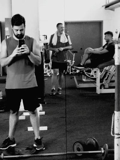 private gym with my friends-family! Gym Time GymLife Gym Buddies Men Sportsman Friend