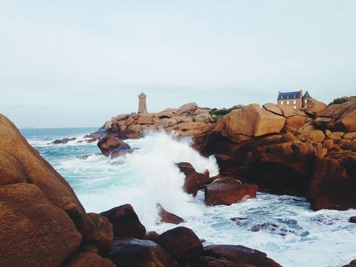 Sea Sea Water Rock Sky Solid Beauty In Nature