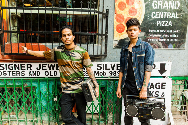 Hip hop artists with boombox in Hauz Khas Village. Hip Hop Artists Hip Hop Boombox Bob Marley Style Graffiti Art Graffiti Wall Portraits In Front Of Graffiti Wall. Hip Hip Dancers B Boy Dancers B-BOY B-boy Dancers In India Hip Hop Delhi