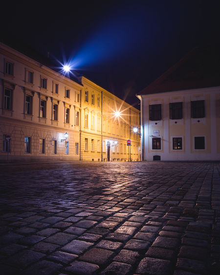 City Illuminated Window Architecture Building Exterior Built Structure Sky Cobblestone Cobbled Romantic Old Town Town Square Walkway Alley Pavement Town