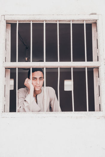 at upper egypt The Fashion Photographer - 2018 EyeEm Awards The Portraitist - 2018 EyeEm Awards The Traveler - 2018 EyeEm Awards Adult Architecture Built Structure Contemplation Day Front View Headshot Indoors  Looking At Camera Men Mid Adult Mid Adult Men One Person Portrait Real People Smiling Window Young Adult Young Men