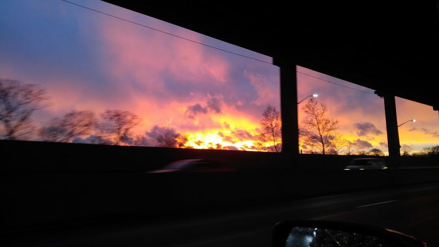 Out For A Drive... Windows With A View.. Sunset Dramatic Sky Sky Cloud - Sky Dramatic Sky Outdoors Sunset_collection Driving :) Sunset Drive Windows With A View