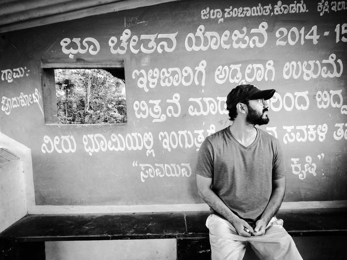 a friend Friends EyeEm gallery cap Capturing Movement Coorgdiaries Coorg_trip Friends EyeEm Gallery Cap Looking Away From Camera Pensive Far From The Madding Crowd Far From City Life Wonder Standing Arts Culture And Entertainment Text Fashion Close-up