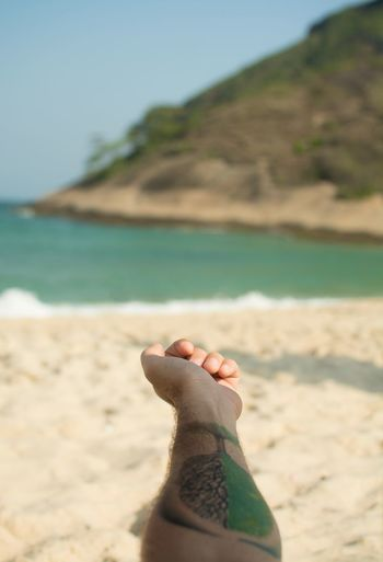 Tatuagem Beach Relaxation Praia Da Macumba Recreio Beach Nature Sea Photography Nikon 35mm