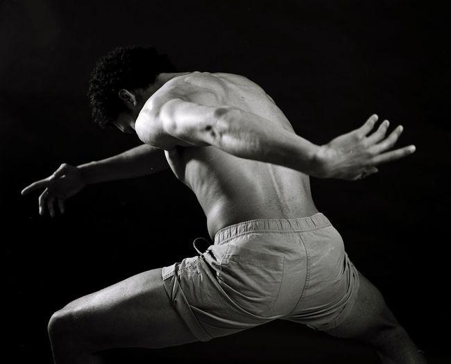 The Amazing Human Body Dancer Dark Blackandwhite Dance