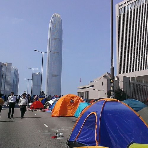 Korupsi waktu Central HongKong Yellow_ribbon Umbrellarevolution occupyHongKong