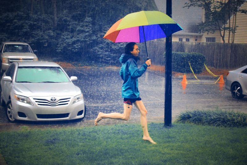 Water Thunderstorm Full Length Spraying Wet Car Rain Rainy Season Rainfall RainDrop Weather Season  Umbrella