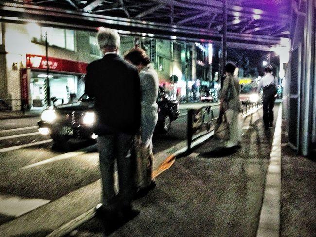 Strolling City Street Snapshot On The Road People Snapshots Of Life City Life Street Light Nightphotography Night Crossing Streetphotography Blur Kichijoji 吉祥寺 , Tokyo Japan