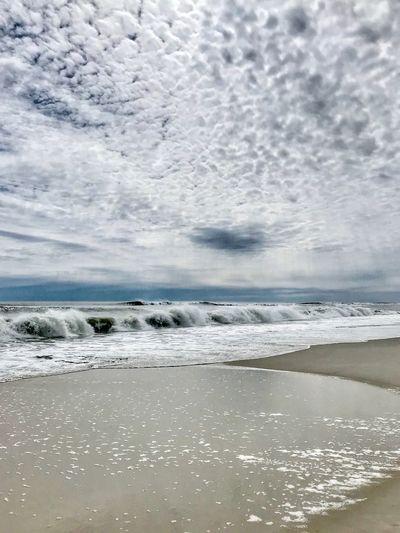 The rolling ocean Atlantic Ocean New York Long Island Ocean Beach Fire Island National Seash Fire Island NY Water Sea Beauty In Nature Scenics - Nature Sky Tranquility Beach