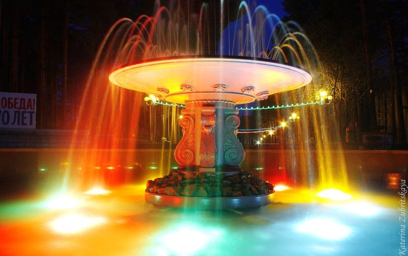 Zheleznogorsk Железногорск Summer Beautiful Beautiful Fountain Colors Fountain Bright Colors Enjoying Life
