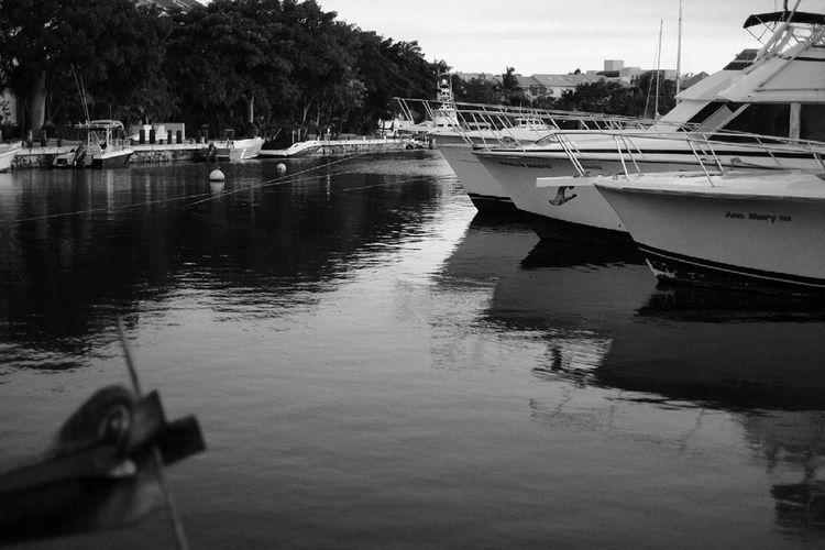 Monochrome Photography Paisaje Riviera Maya Reflection Tranquility Tourism