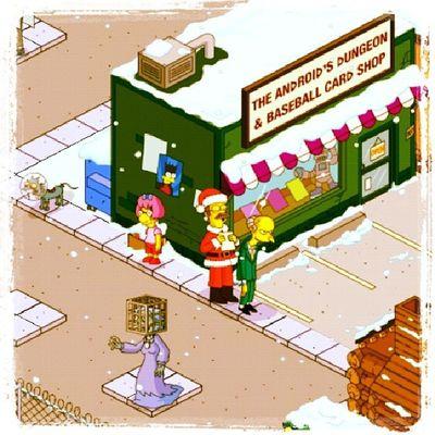 I'ts christmas in Springfield! Simpson