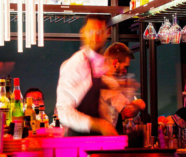 Adult People Men Adults Only Nightlife Happy Hour Restaurant Madam Adam Toren Real People Shadow Cocktailbar Cocktails & Glasses Cocktailtime Cocktailbar Ma'dam Amsterdam Movement Photography Movement Blur Moves Movement In The Picture Movement And Stilness