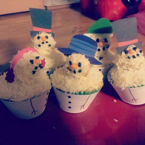 MERRY CHRISTMAS cupcakes Snowmen Baking Christmas Itwasabakingkit Scroogesnowman DIY Food