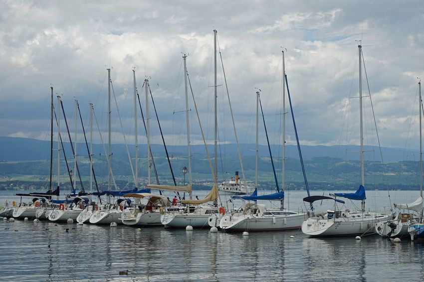 Yvoire Yvoire, France Lac Léman Genfersee Lake Water Sky And Clouds Cloud - Sky Clouds Boat Boats And Water Boats EyeEm Best Shots - Landscape Landscape_Collection Landscape_photography Landscape