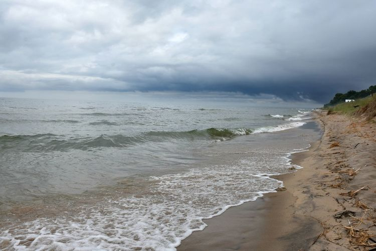 Dunes Holland, Michigan Lake Michigan Lakefront Storm Tunnel Park Beach Beauty In Nature Cloud - Sky Outdoors Rainstorm Sand Stormy Day Water